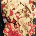 cookies on a Santa plate