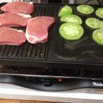 What if I grilled green tomatoes while cooking up pork chops?