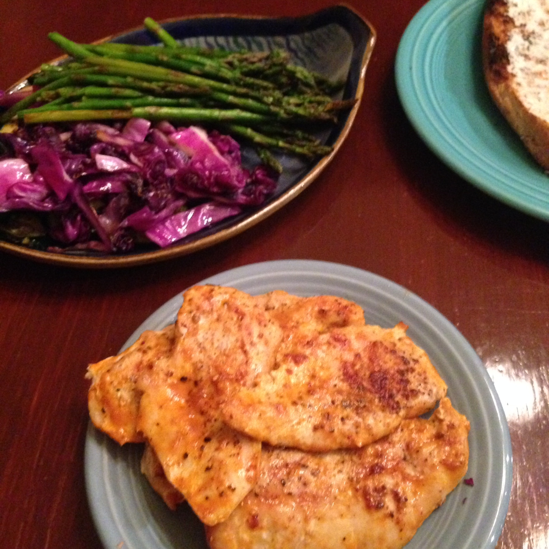 Buffalo Grilled Chicken Cutlets, Grilled Indoors
