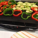Veggies on a raclette grill... indoors