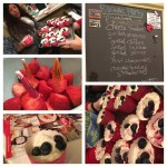Guests enjoyed the simplicity of the menu and the festive no bake cheesecake dessert,
