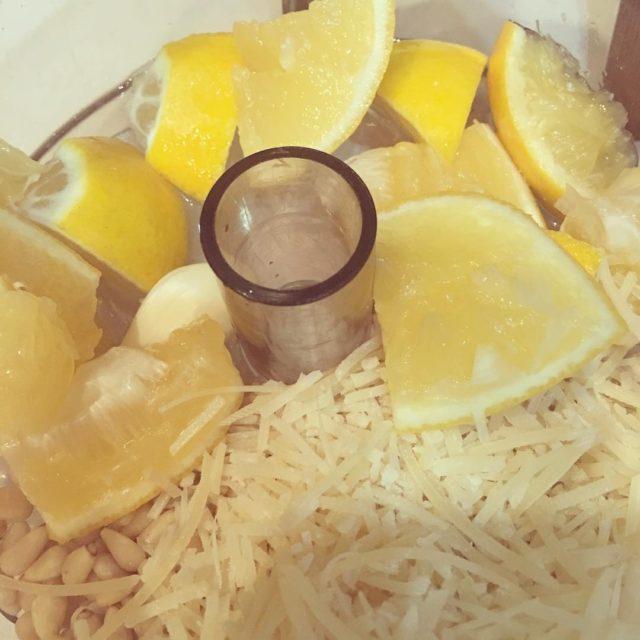Making Meyer Lemon Pesto homecook homecooking pasta pesto lemon meyerlemonhellip