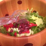 Quick salad with a little help from the deli buffet