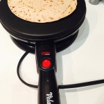Cooking a tortilla on a crepe maker