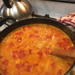 Red lentil dahl with red curry