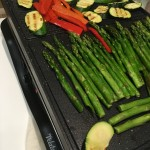 Grilling veggies on a raclette grill