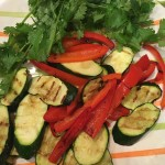 grilled veggies complemented by cilantro