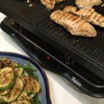 Chicken grilling on the raclette