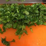 Chopped cilantro adds a zesty flavor