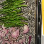Granite is a great surface for grilling veggies without burning them