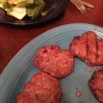 Venison-beef burgers