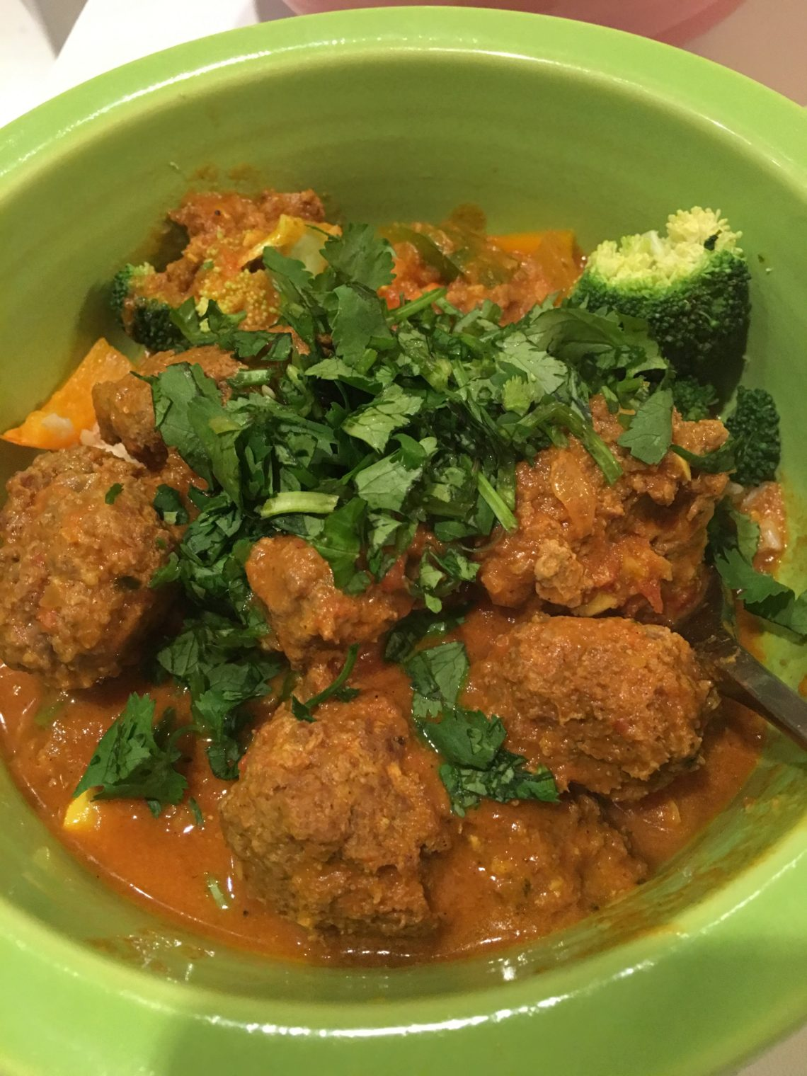 Ginger Curry Venison Meatballs