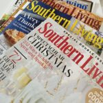 Stack of Southern Living magazines.